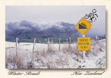 "Winter roads: ""snow in winter creates a white blanket across New Zealand's roads"""