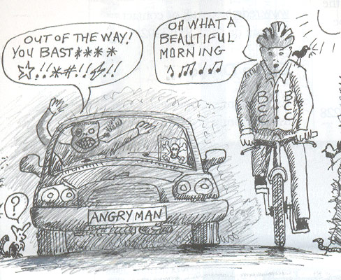Cartoon taken from The Bristol Cyclist, the magazine for the Bristol Cycling Campaign.