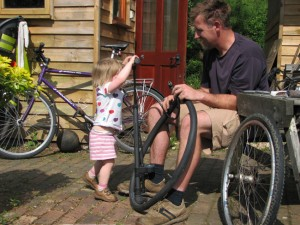 Puncture-mending classes for the under-twos