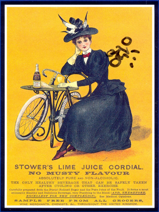 Stower?s Lime Juice Codial advertised