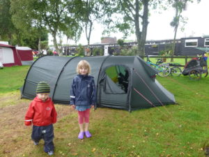 Wet camping. It's raining again!