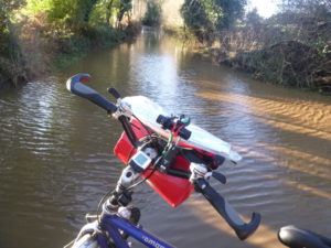 Wishing I'd brought my snorkel - large deep flood at Langley