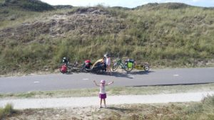 The North Sea Route bike path is like a smooth motorway for bikes through the dunes.