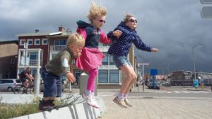 After coming out of the sea Jack and the girls would do a lot of jumping to warm up.